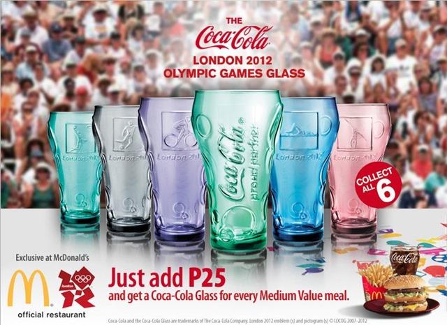2 X London 2012 Olympics Coca Cola Glasses Limited Edition